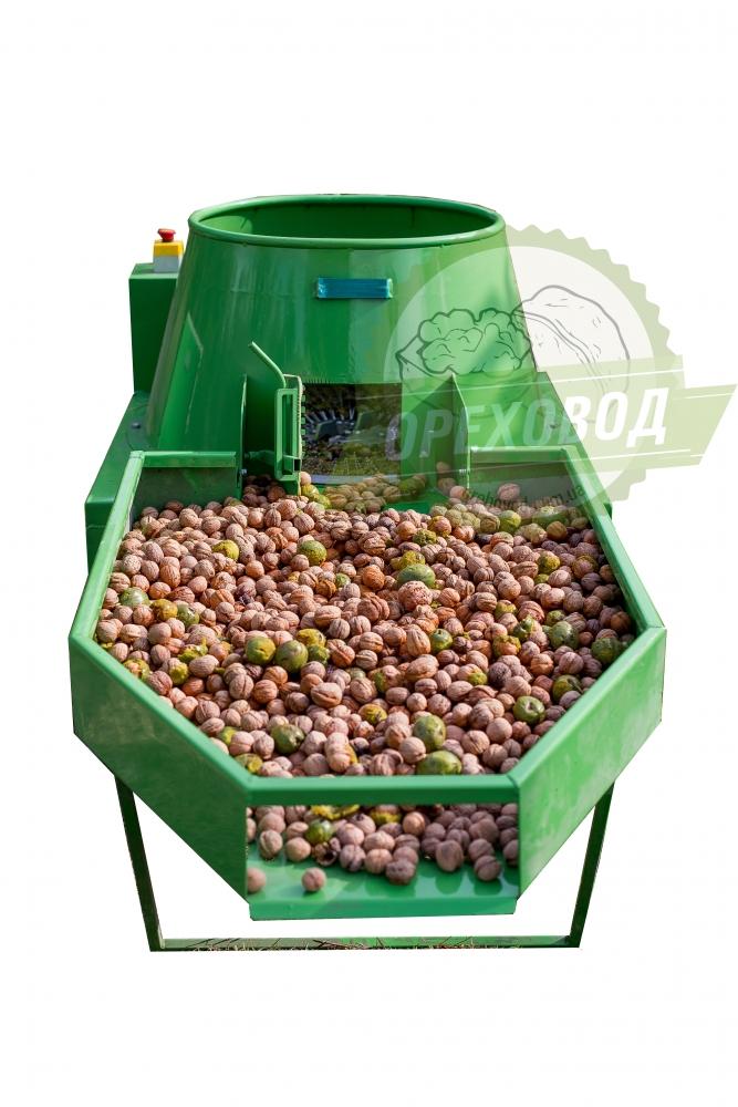 Промышленная мойка для очистки ореха от зеленой кожуры (1000 кг/ч) - 6