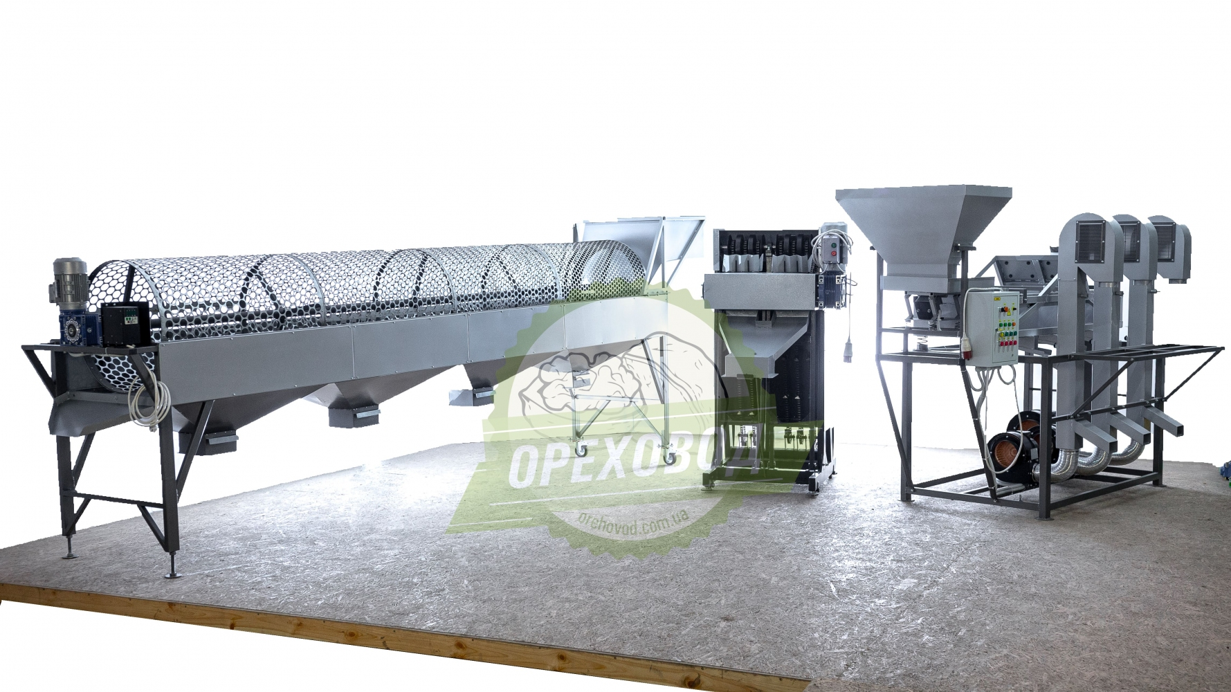 Большая промышленная линия по переработке грецкого ореха - 7